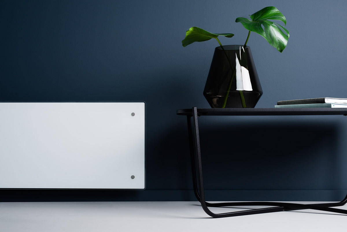 Adax Neo Wifi Fehér fűtőpanel fekete lámpával