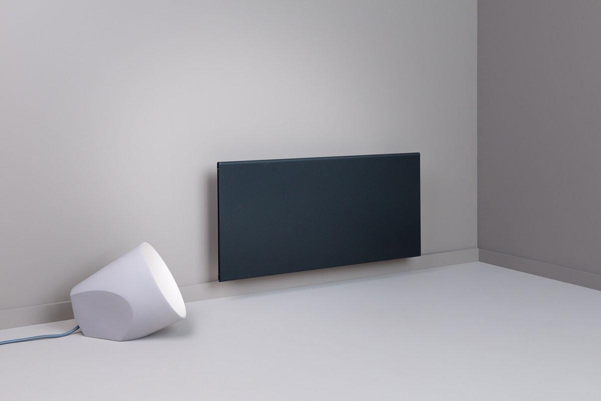 Adax Neo Gyöngyház fekete fűtőpanel lámpával