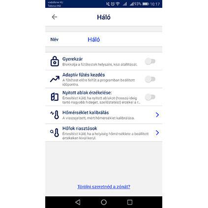 Adax Wifi applikáció lehetőségek