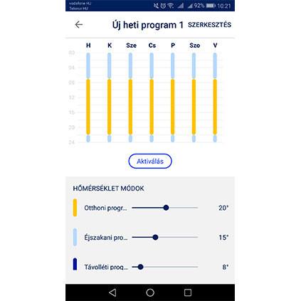 Adax Wifi applikáció programok