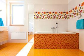 Beha fürdőszoba narancs
