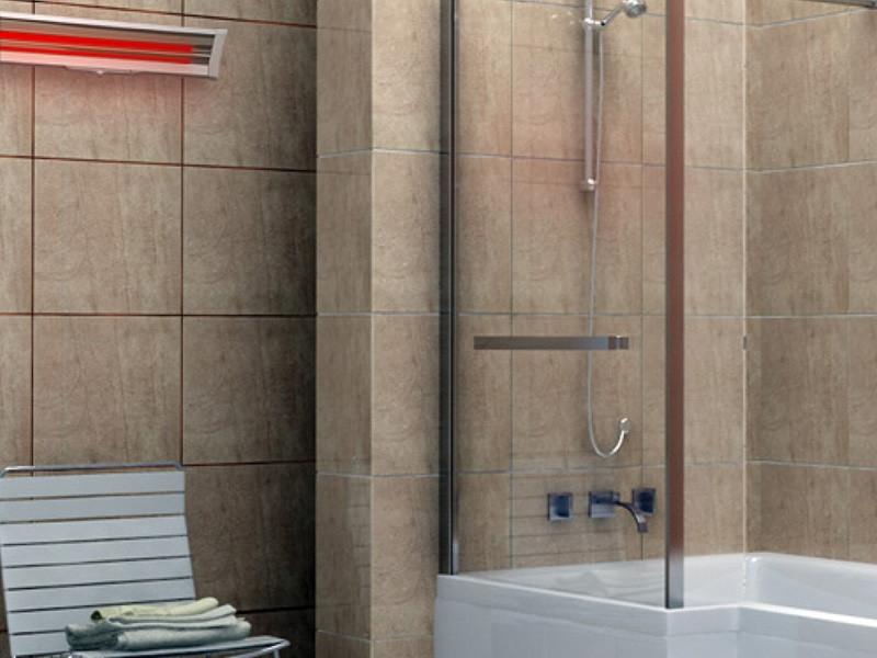 Halogén hősugárzó fürdőszoba