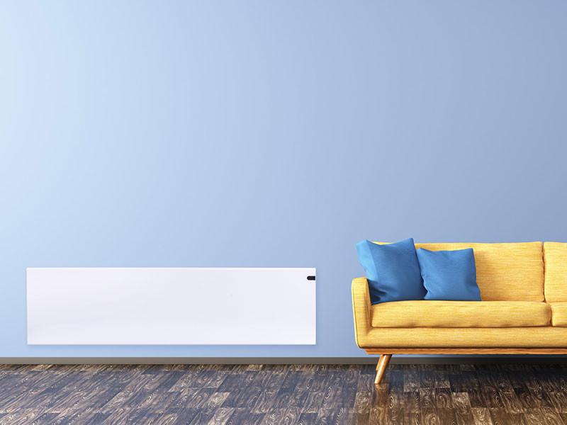 ADax Neo fehér színben sárga kanapéval