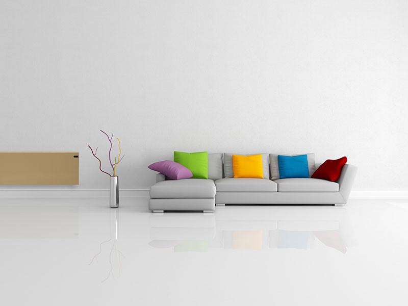 Adax Neo világos bézs szín nappaliban