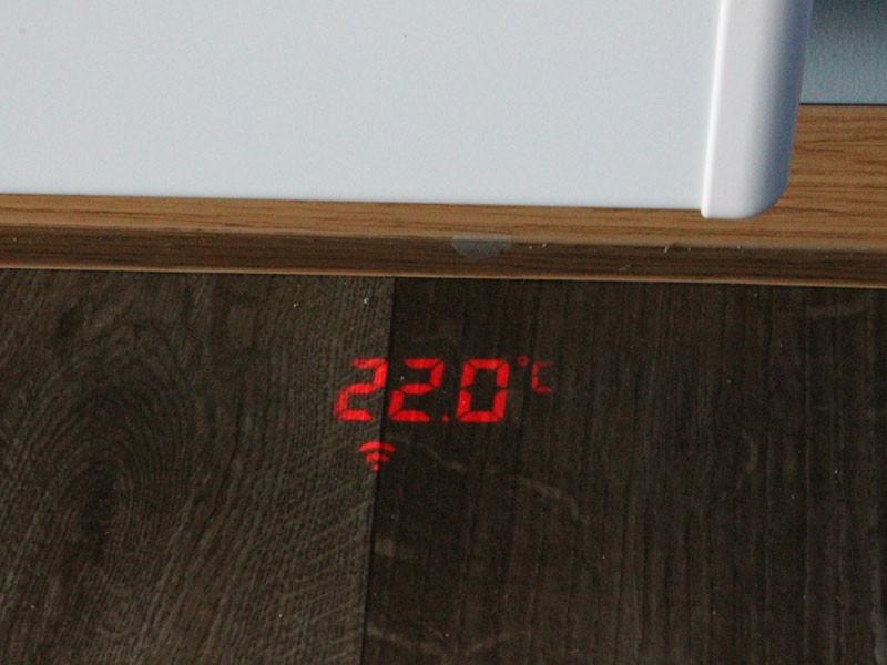 Beha hőmérséklet kivetítés