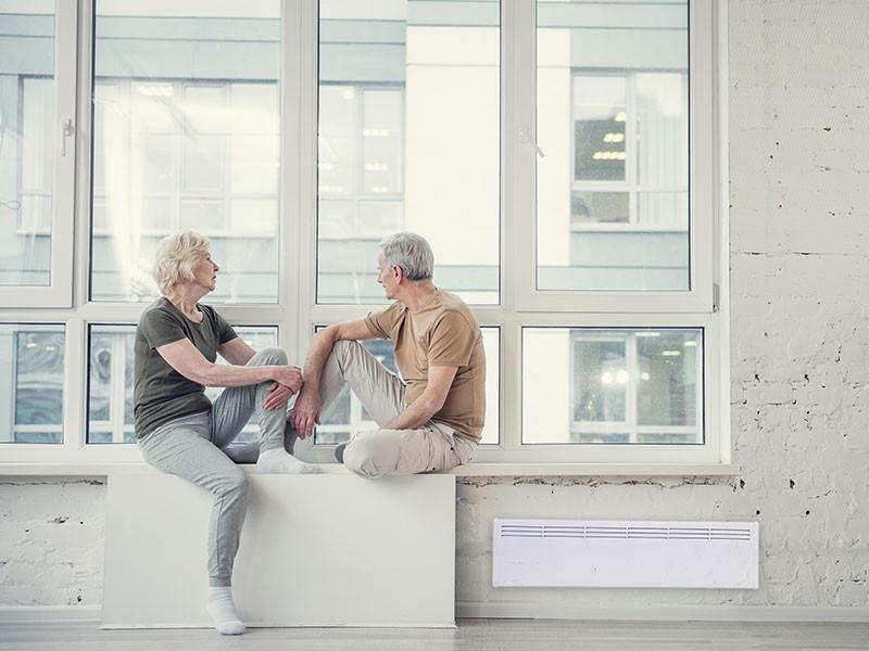 Beha radiátor idős párral
