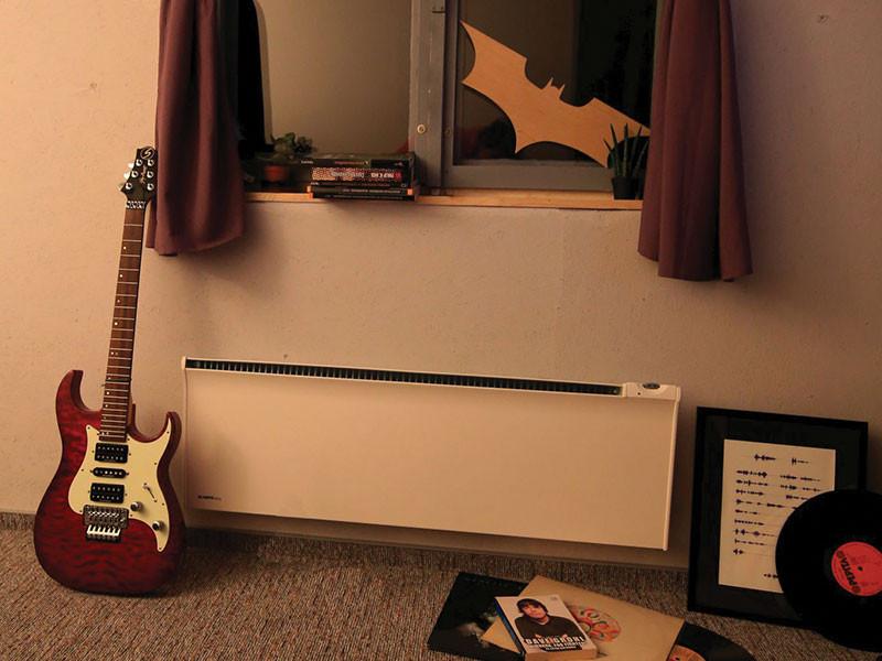 Glamox fűtőpanel gitárral