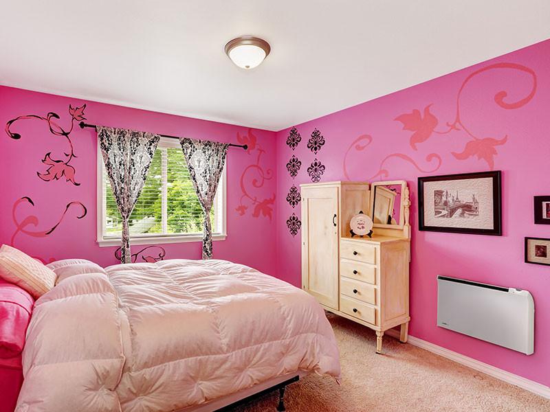 Glamox pink hálószoba