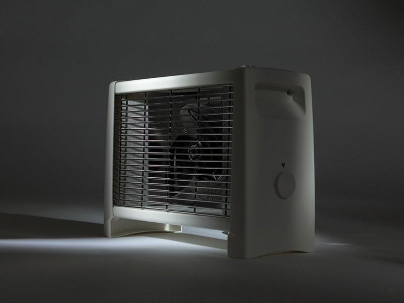 Adax ventilátoros hősugárzó sötétben