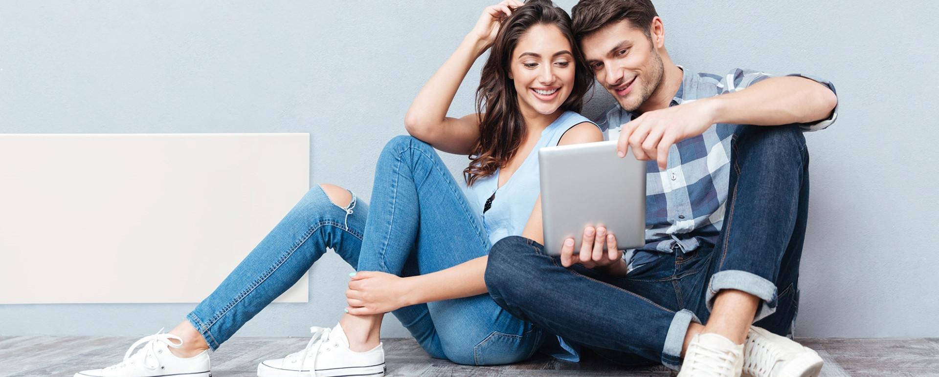 NordArt elektromos fűtőpanel fiatal párral